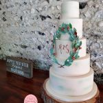 5 tier wreath wedding cake zoes cake studio at Cissbury Barns